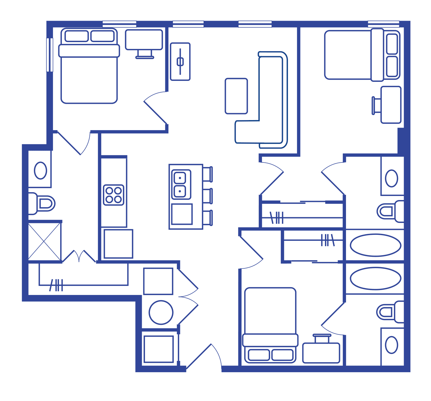 3 Bedroom Floorplan 2